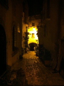 Charming cobbled streets of Monte San Biagio